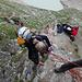 kleine Kletterei bzw. Abseilen