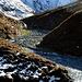 Der Teischnitzbach schneidet bei der Pifangalm etwas in den Talboden ein.
