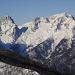 Nochmal die gewaltige Spitzmauer Südwand und das Priel-Massiv