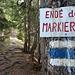 Ende der Markierung - der teilweise versicherte Steig auf die Kellaspitz beginnt
