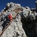 es gibt auch eine kleine Leiter beim Sentiero Renato Salvatori