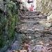 Particolare della scalinata