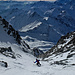 Das Ende noch lange nicht in Sicht, dafür der Mont Blanc