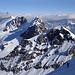 Pollux, Breithorn und Matterhorn (mit Wolkenkranz)