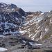 Dann geht es zum Abstieg, hier noch ein Blick in das weite Ochsenreichkar, aus der Scharte zwischen Hutkogel und Ringkamp.