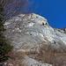 Blick nach oben, schöne Kletterwände für die Liebhaber der Vertikalen.