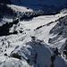 Noch einer mit Skis auf dem Buckel – auf dem Rigidalstock-Klettersteig weit über Engelberg