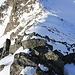 Mein Abstiegsgrat, Blick hinunter entlang des NNW-Grates zur Fuorcla da Strem Sut