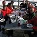 il gruppo Cai Villasanta con polenta e salsicce e la torta,complimenti!!!!