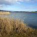 Herbstlicher Rottachstausee - eine plötzlich aufkommender, recht starker Fönwind kräuselt die Wasseroberfläche.