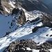 Rückblick auf den Gipfelgrat