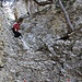 kurze Kletterstelle am Holzknechtsteig
