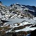 Der Grausee vom Aufstieg zur Messelingscharte.
