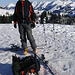 auf dem Gipfelplateau (bzw. Högerli) Buufal mit Niesenkette im Hintergrund