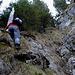 ... kehrten jedoch um und erklommen die sehr steile, feuchte und rutschige Bachrunse