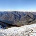 Auf dem Monte Galbiga ergibt sich ein äussert hübscher Blick auf die Nordseite nach Porlezza und dem Lago di Lugano