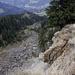 Lauihöchi: Blick in das Bergsturzgebiet Lauilock