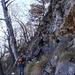 Am östlichen Ende des Felssturzes finden wir doch noch eine Möglichkeit zum Grat zu gelangen.