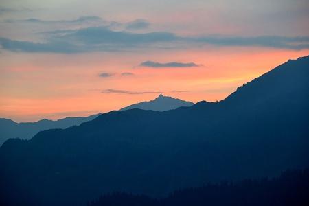Gulderstock mit Sonnenaufgang.