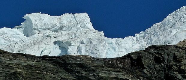 Die Eismauer des Teischnitzkees