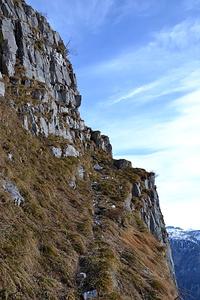 Wanderweg oberhalb der Gelben Wand.