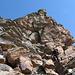Im Abstieg noch eine Kletterei in der Steinwüste.