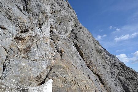 (falscher) Start der Kletterei.