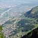 Tiefblick auf Triesenberg und Vaduz