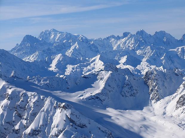 Mont Blanc und Aiguilles