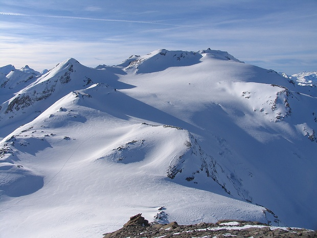 Glacier und Pointe de Vouasson beim Aufstieg auf den Stern