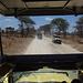 Blick aus dem Jeep. Das Hochdach bietet den notwendigen Sonnenschutz