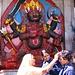 Statue der Khala Bairava - Manifestation des Gottes Shiva. Im Zentrum von Kathmandu am Durbar Square