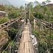 ältere Hängebrücke auf dem Trek